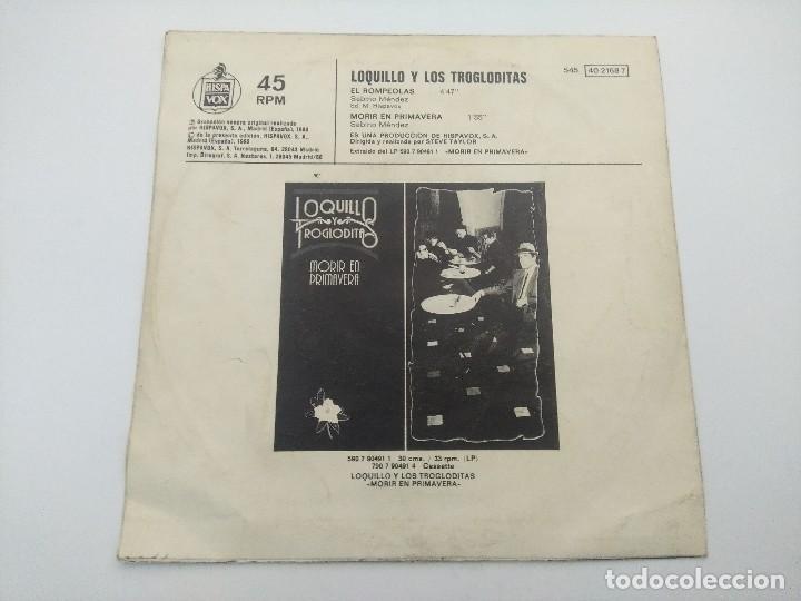 Discos de vinilo: SINGLE/LOQUILLO Y LOS TROGLODITAS/EL ROMPEOLAS. - Foto 3 - 287926268