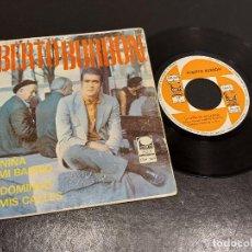 Discos de vinilo: ALBERTO BURBÓN / LA NIÑA DE MI BARRIO / UN DOMINGO EN MIS CALLES / SINGLE-CEM-1968 / MBC. ***/***. Lote 287931673