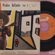 "Discos de vinilo: 7"" PEDRO INFANTE - VOL. 2 - POLYDOR 20 607 EPH - SPAIN PRESS EP (VG+/VG+). Lote 287937193"