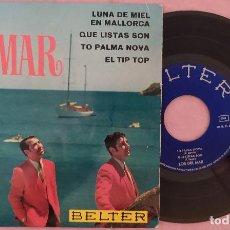 """Discos de vinilo: 7"""" LOS DEL MAR - LUNA DE MIEL EN MALLORCA - BELTER 51.900 - SPAIN EP (VG++/VG++). Lote 287941088"""