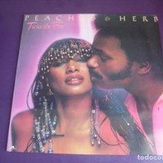 Discos de vinilo: PEACHES & HERB – TWICE THE FIRE - LP POLYDOR 1979 - FUNK DISCO ELECTRONICA 70'S - SIN USO. Lote 287941308