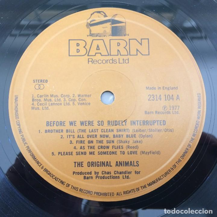 Discos de vinilo: The Original Animals* – Before We Were So Rudely Interrupted, UK 1977 Barn Records - Foto 3 - 287941688