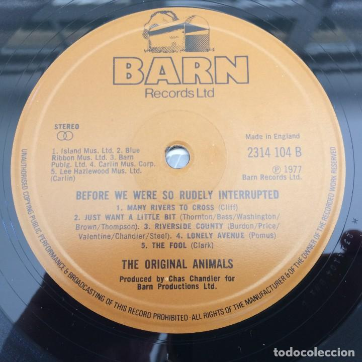 Discos de vinilo: The Original Animals* – Before We Were So Rudely Interrupted, UK 1977 Barn Records - Foto 4 - 287941688