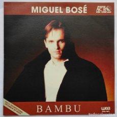 Discos de vinilo: MIGUEL BOSE - BAMBU - RARO SINGLE PROMOCIONAL SUDAMERICA. Lote 287945823