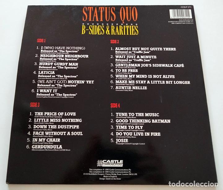 Discos de vinilo: VINILO LP DOBLE DE STATUS QUO. B-SIDES & RARITIES. 1990. - Foto 2 - 287950138