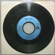 Discos de vinilo: STRAY CATS. RUNAWAY BOYS/ MY ONE DESIRE. ARISTA, FRANCE 1980 SINGLE. Lote 287951163