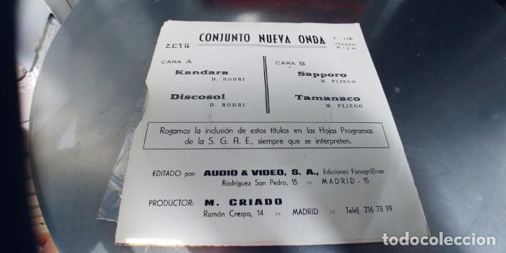 Discos de vinilo: CONJUNTO NUEVA ONDA-EP KANDARA +3-NUEVO - Foto 2 - 287960938