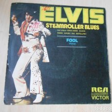 Discos de vinilo: ELVIS PRESLEY, SG, STEAMROLLER BLUES + 1, AÑO 1973 PROMO. Lote 287978853