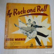 Discos de vinilo: EDDIE WARNER - 4 ROCK AND ROLL -, EP, EL TERCER MONO (THE THRID MONKEY) + 3, AÑO 1959. Lote 287980153