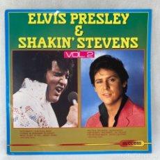Discos de vinilo: LP - VINILO ELVIS PRESLEY & SHAKIN' STEVENS VOL.2 - HOLANDA - AÑO 1986. Lote 287984543
