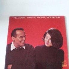 Discos de vinilo: HARRY BELAFONTE NANA MOUSKOURI AN EVENING WITH ( 1965 RCA VICTOR USA ). Lote 287993023