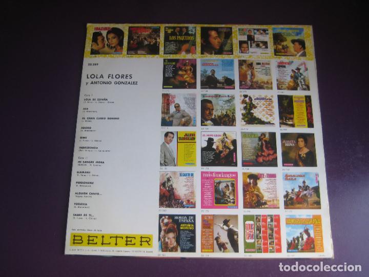 Discos de vinilo: LOLA FLORES Y ANTONIO GONZALEZ - LP BELTER 1969 - SIN APENAS USO - RUMBAS GITANAS RUMBA POP FLAMENCO - Foto 2 - 287995943