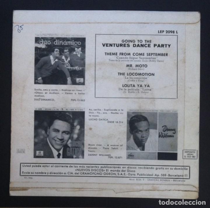 Discos de vinilo: THE VENTURES - Going To The Ventures Dance Party - EP ESPAÑOL 1961 - LIBERTY - Foto 2 - 288000063