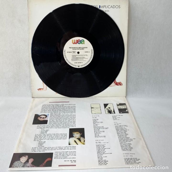 Discos de vinilo: LP - VINILO PRESUNTOS IMPLICADOS - ALMA DE BLUES + ENCARTE - ESPAÑA - AÑO 1989 - Foto 2 - 288000208