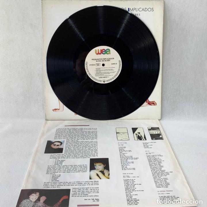 Discos de vinilo: LP - VINILO PRESUNTOS IMPLICADOS - ALMA DE BLUES + ENCARTE - ESPAÑA - AÑO 1989 - Foto 3 - 288000208