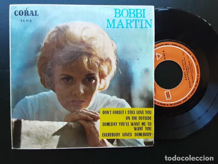 EP BOBBI MARTIN, DON'T FORGET I STILL LOVE YOU, ON THE OUTSIDE +2 (Música - Discos de Vinilo - EPs - Pop - Rock Internacional de los 50 y 60)
