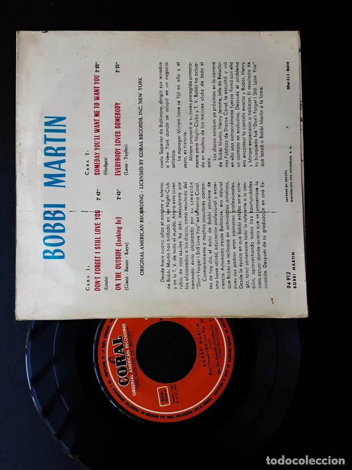 Discos de vinilo: EP BOBBI MARTIN, DONT FORGET I STILL LOVE YOU, ON THE OUTSIDE +2 - Foto 2 - 288006418