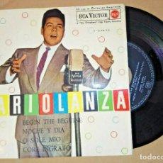"Discos de vinilo: 7"" MARIO LANZA – BEGIN THE BEGUINE +3 -RCA 3-20450 - GERMANY PRESS EP (VG+/VG+). Lote 288012788"