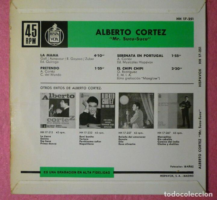 "Discos de vinilo: 7"" ALBERTO CORTEZ -La Mama +3 - HISPAVOX HH 17-251 - SPAIN press - EP (EX-/VG++) - Foto 2 - 288018093"