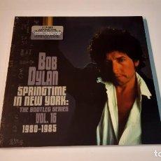 Discos de vinilo: 0921-BOB DYLAN-SPRINGTIME IN N.YORK:THE BOOTLEG SERIES VOL.16 1980-1985.BOX 2LP SET VINIL PRECINTADO. Lote 288024198