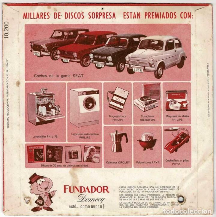 Discos de vinilo: Disco Sorpresa Fundador. Alberto Cortez - Cuando un amigo se va + 3. EP - Foto 2 - 288035788