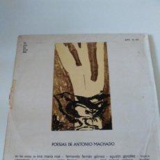 Discos de vinilo: POESIAS DE ANTONIO MACHADO ( 1965 LA PALABRA AGUILAR ESPAÑA ) ANA MARIA NOE FERNANDO FERNAN GOMEZ. Lote 288044538