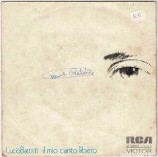 Discos de vinilo: LUCIO BATTISTI - IL MIO CANTO LIBERO / CONFUSIONE. SINGLE. Lote 288045138