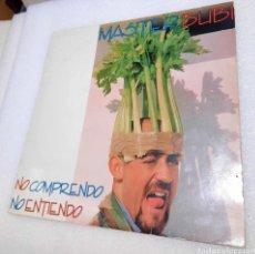Discos de vinilo: MASTER BUBI - NO COMPRENDO, NO ENTIENDO. Lote 288045543