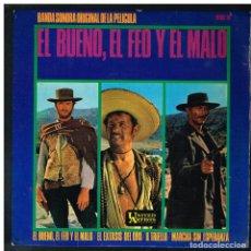 Discos de vinilo: ENNIO MORRICONE - EL BUENO, EL FEO Y EL MALO + 3 - EP 1967 - SOLO LA PORTADA. Lote 288052933