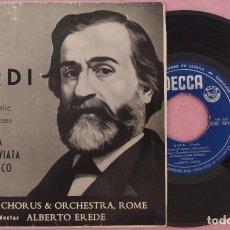 """Discos de vinilo: 7"""" ALBERTO EREDE / VERDI - AIDA +2 - DECCA SDGE 80112 - SPAIN PRESS EP (VG+/VG+). Lote 288052953"""