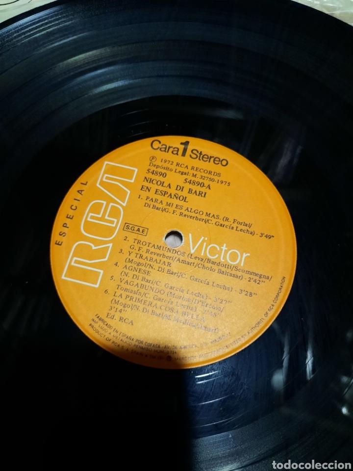 Discos de vinilo: Nicola Di Bari. Canta en español - Foto 4 - 288059353