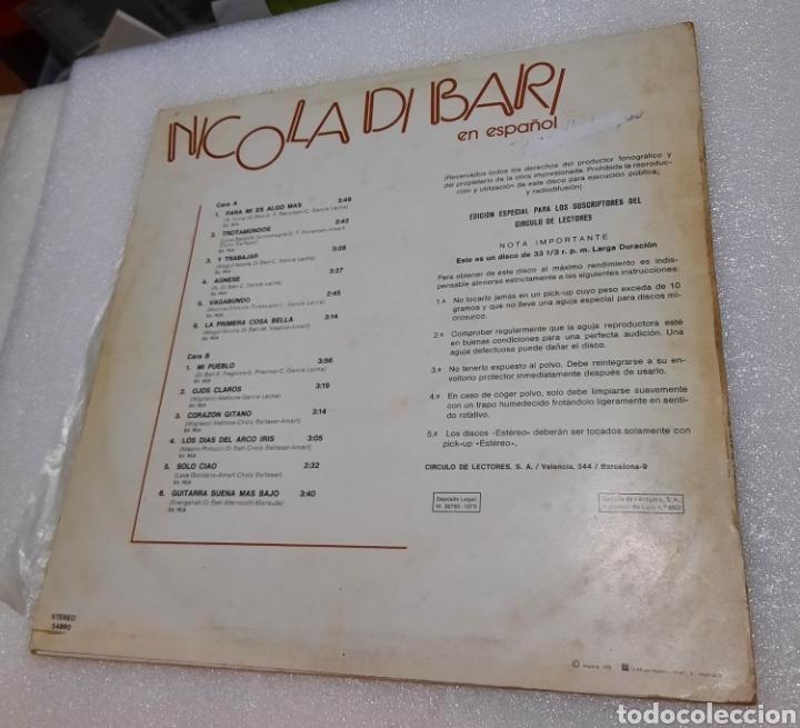Discos de vinilo: Nicola Di Bari. Canta en español - Foto 5 - 288059353