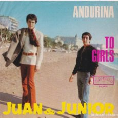 Discos de vinilo: JUAN & JUNIOR - ANDURIÑA (VERSIÓN ALEMANA - EDITADO EN ALEMANIA - ¡RARÍSIMO -DIFÍCIL DE ENCONTRAR!). Lote 288061623
