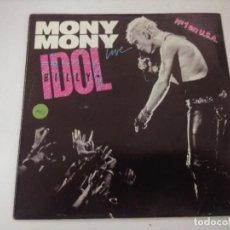 Discos de vinilo: BILLY IDOL/MONY MONY/SINGLE.. Lote 288072648