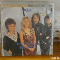 Discos de vinilo: CAJSING20 DISCO 7 PULGADAS SINGLE ABBA HEAD OVER HEELS BUEN ESTADO GENERAL. Lote 288075333