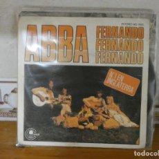 Discos de vinilo: CAJSING20 DISCO 7 PULGADAS SINGLE ABBA FERNANDO TIENE UN ESCRITO ATRAS. Lote 288077788