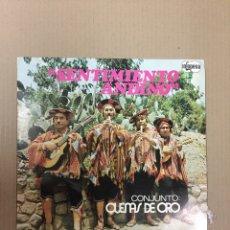 Discos de vinilo: LP SENTIMIENTO ANDINO, CONJUNTO QUENAS DE ORO. Lote 288077843