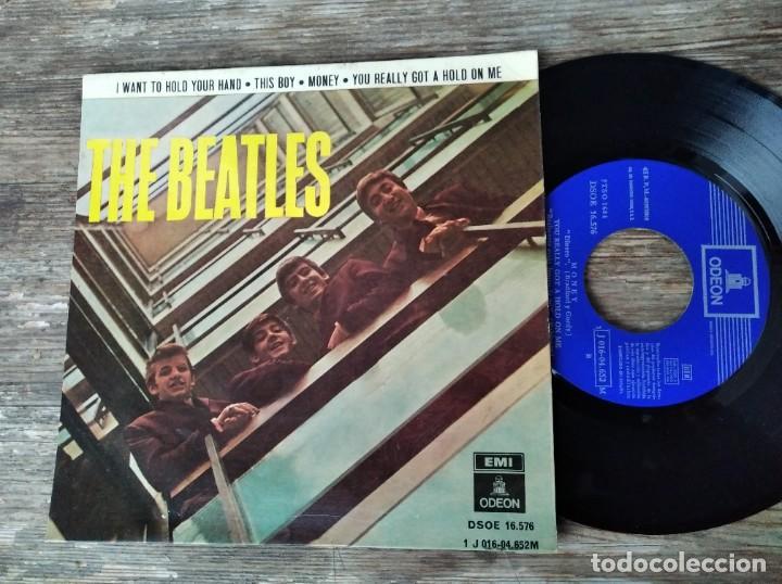 THE BEATLES - I WANT TO HOLD YOUR HAND **** RARA SEGUNDA EDICIÓN BOXED ODEON 1964 BUEN ESTADO! (Música - Discos de Vinilo - EPs - Pop - Rock Internacional de los 50 y 60)