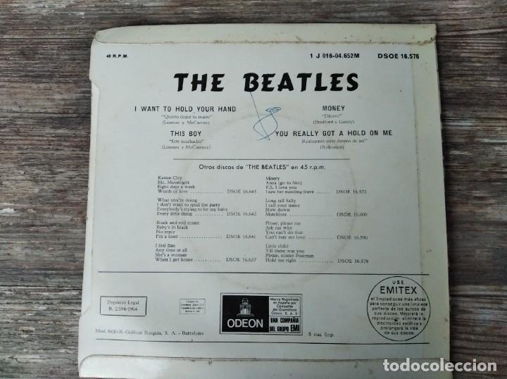 Discos de vinilo: THE BEATLES - I want to hold your hand **** RARA SEGUNDA EDICIÓN BOXED ODEON 1964 BUEN ESTADO! - Foto 2 - 288091428