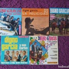 """Discos de vinilo: DIGNO GARCIA Y SUS CARIOS ,5 X VINYL, 7"""" EP SPAIN. Lote 288098873"""