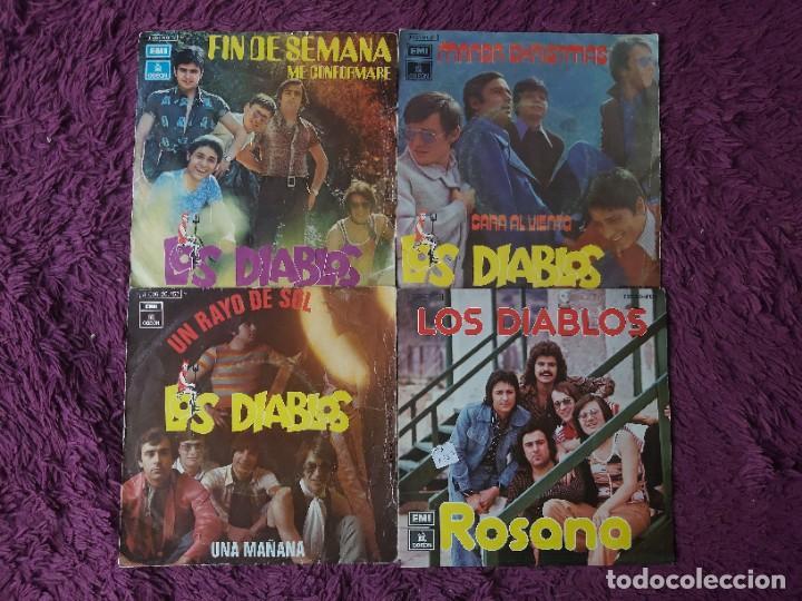 """LOS DIABLOS ,4 X VINYL, 7"""" SINGLE SPAIN (Música - Discos - Singles Vinilo - Solistas Españoles de los 50 y 60)"""