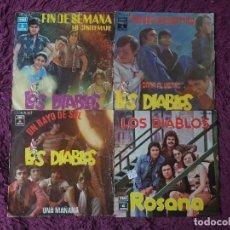 """Discos de vinilo: LOS DIABLOS ,4 X VINYL, 7"""" SINGLE SPAIN. Lote 288099558"""