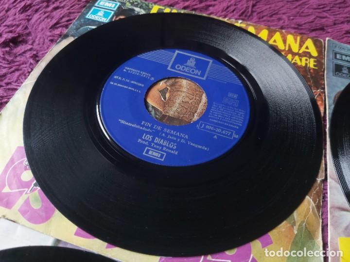 """Discos de vinilo: Los Diablos ,4 x Vinyl, 7"""" Single Spain - Foto 9 - 288099558"""