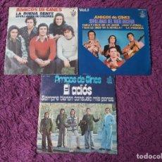 """Discos de vinilo: AMIGOS DE GINES ,3 X VINYL, 7"""" EP SINGLE SPAIN. Lote 288111863"""