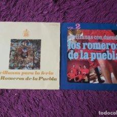 """Discos de vinilo: LOS ROMEROS DE LA PUEBLA ,2 X VINYL, 7"""" EP SPAIN. Lote 288112213"""