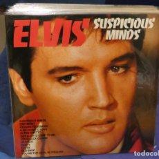 Discos de vinilo: LOTT133-140 LP UK 1982 ELVIS PRESLEY SUSPICIOUS MINDS MUY BUEN ESTADO GENERAL. Lote 288114593