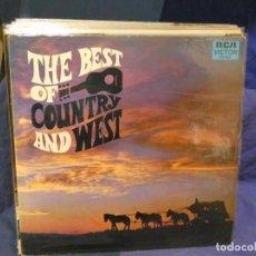 Discos de vinilo: LOTT133-140 LP THE BEST OF COUNTRY AND WEST USA 70S BUEN ESTADO. Lote 288114898