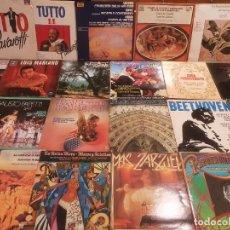 Discos de vinilo: LOTE DE 25 DISCOS DE VINILO - MUSICA CLASICA, LA MAYORIA. Lote 288115218