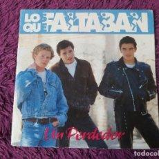 """Discos de vinilo: LOS QUE FALTABAN – UN PERDEDOR, VINYL, 7"""" SINGLE 1991 SPAIN SR-162 PROMO. Lote 288131333"""