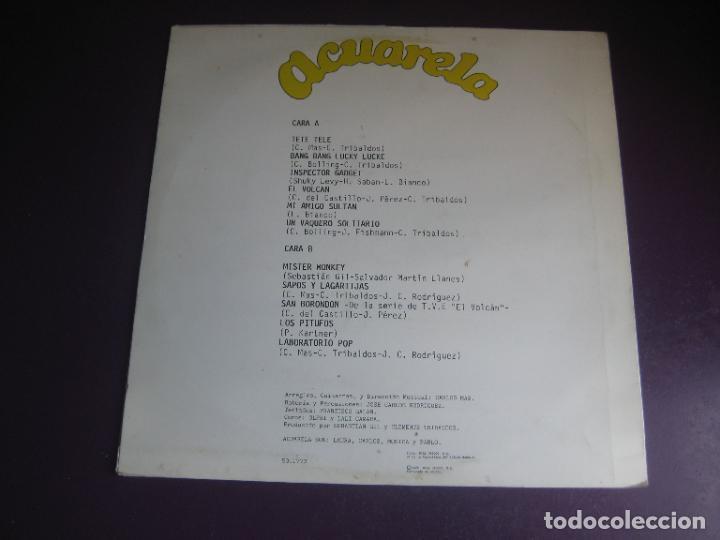 Discos de vinilo: ACUARELA - LP DIAMANTE 1985 - MUSICA INFANTIL 80S - INSPECTOR GADGET - LUCKY LUKE - PITUFOS - ETC - Foto 2 - 288131653